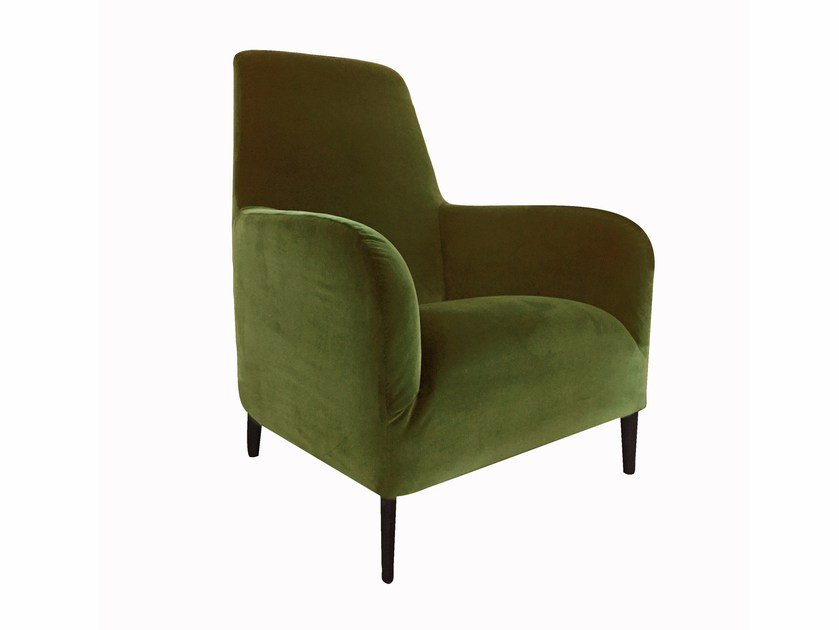 High-back fabric armchair with removable cover DIVANITAS | High-back armchair by Verzelloni