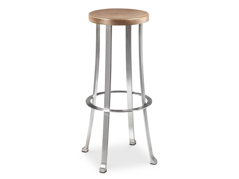 High stool with footrest DIVINO by Cantori