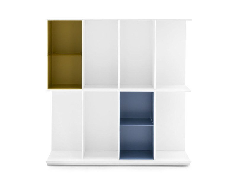 Wall-mounted freestanding MDF bookcase DIVISION | MDF bookcase by Calligaris