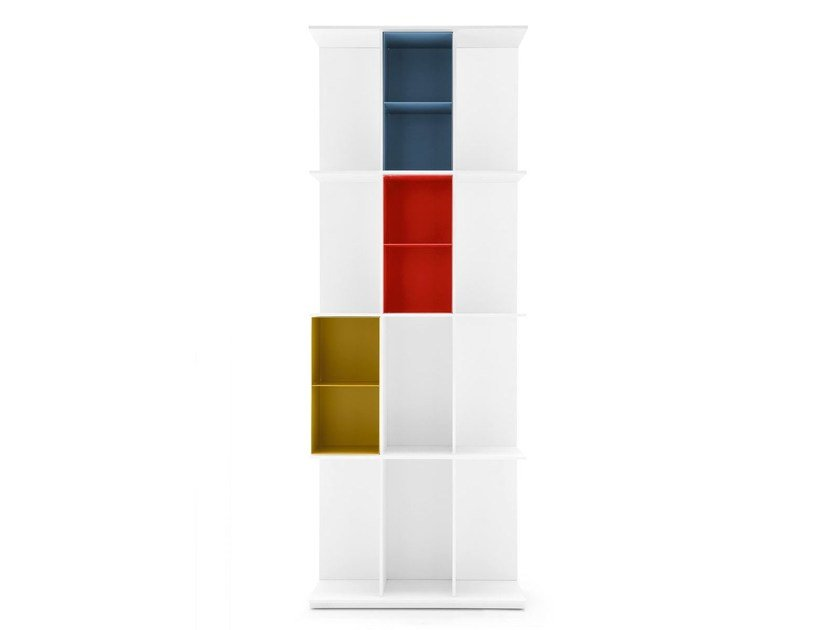 Freestanding divider MDF bookcase DIVISION | Wall-mounted bookcase by Calligaris