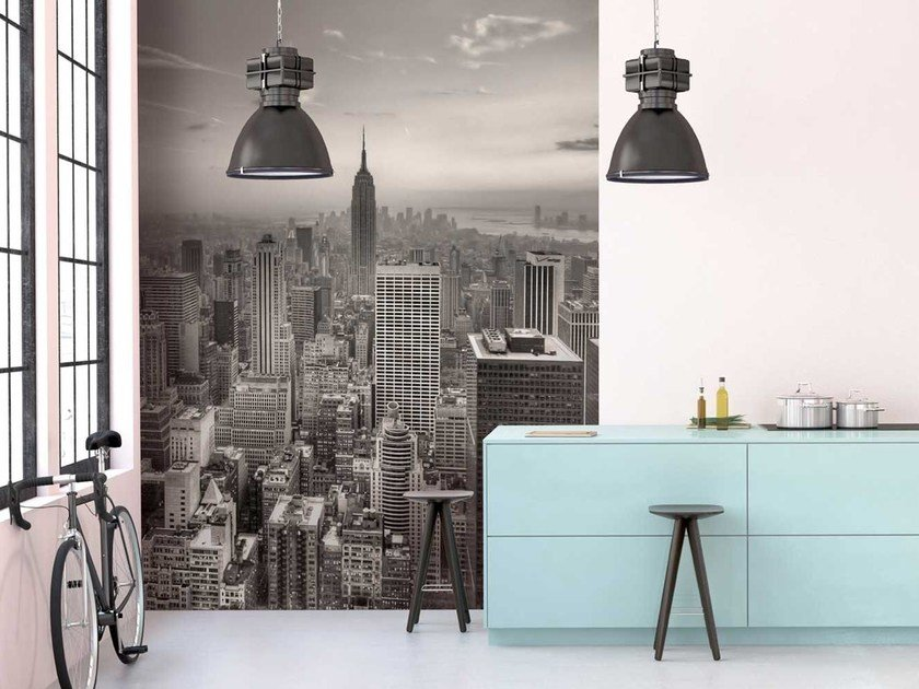 Washable panoramic non-woven paper wallpaper DL0017 by LGD01