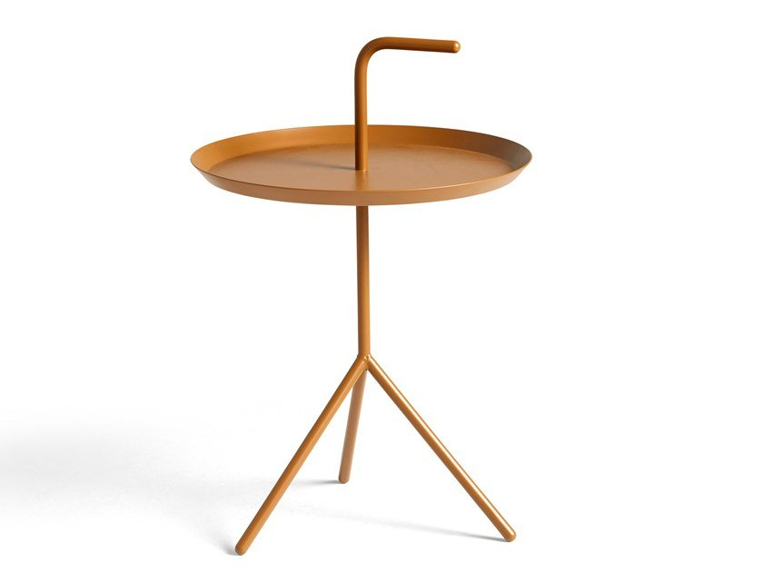 Round steel side table DLM - DON'T LEAVE ME by Hay