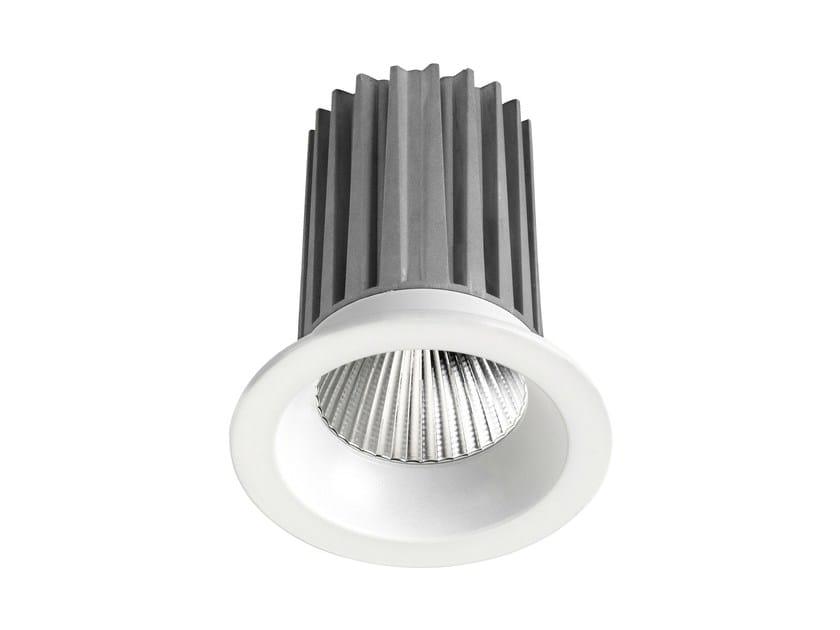 LED round recessed aluminium spotlight DLR 9W by LED BCN
