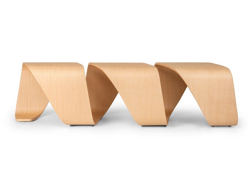 Modular multi-layer wood bench DNA | Bench by True Design