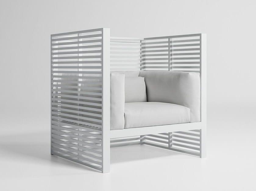 High-back fabric garden armchair DNA | High-back garden armchair by GANDIA BLASCO