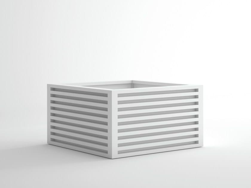 Square aluminium planter DNA | Square planter by GANDIA BLASCO