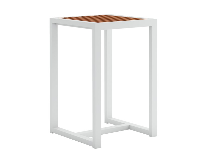Square high table DNA TEAK | High table by GANDIABLASCO