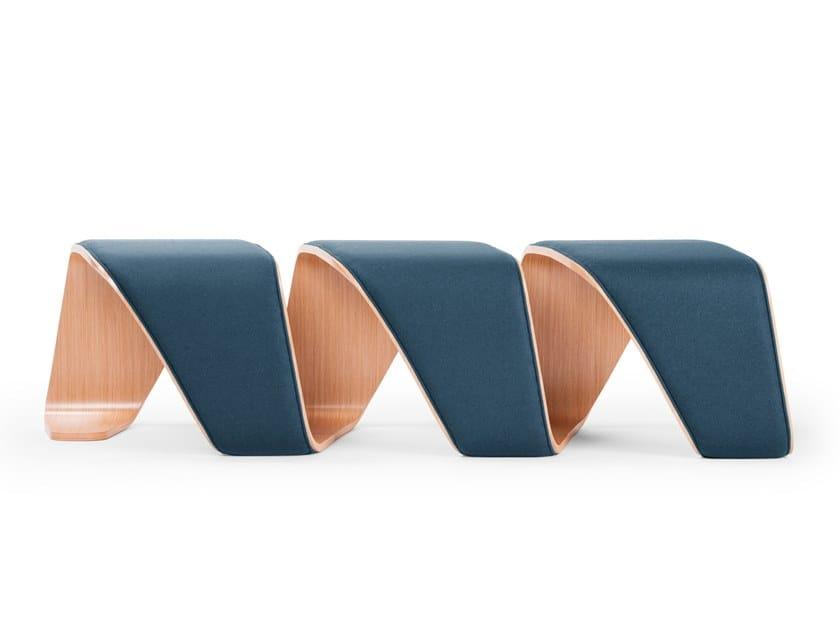 Upholstered modular bench DNA | Upholstered bench by True Design