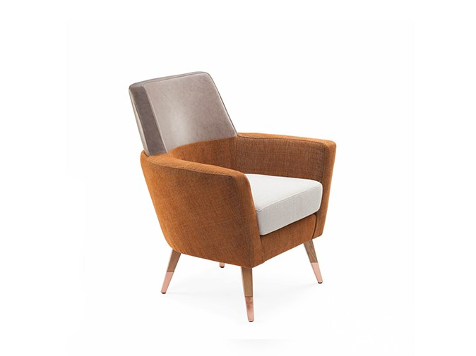 Fabric armchair with armrests DOBLE | Armchair by Mambo Unlimited Ideas