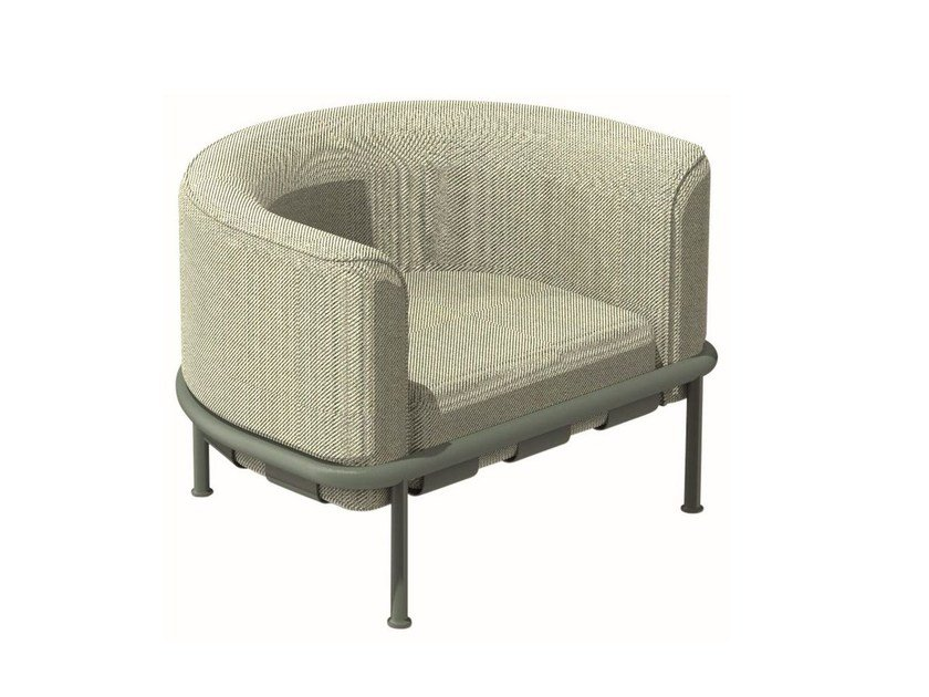 Fabric armchair with armrests DOCK   Armchair by emu