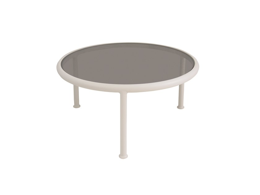 Low round coffee table DOCK by emu