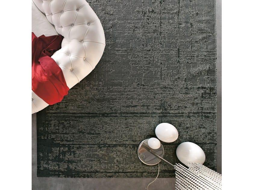 Solid-color rectangular chenille rug DOGE by Adriani e Rossi edizioni