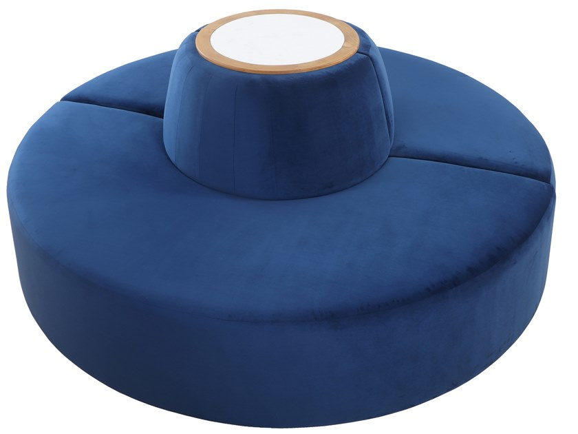 Curved fabric sofa DOIRA by ALANKARAM