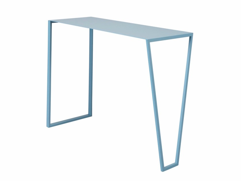 Rectangular steel console table DOLCE by AZEA