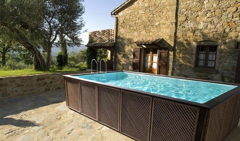 piscine hors sol dolcevita by piscine laghetto. Black Bedroom Furniture Sets. Home Design Ideas