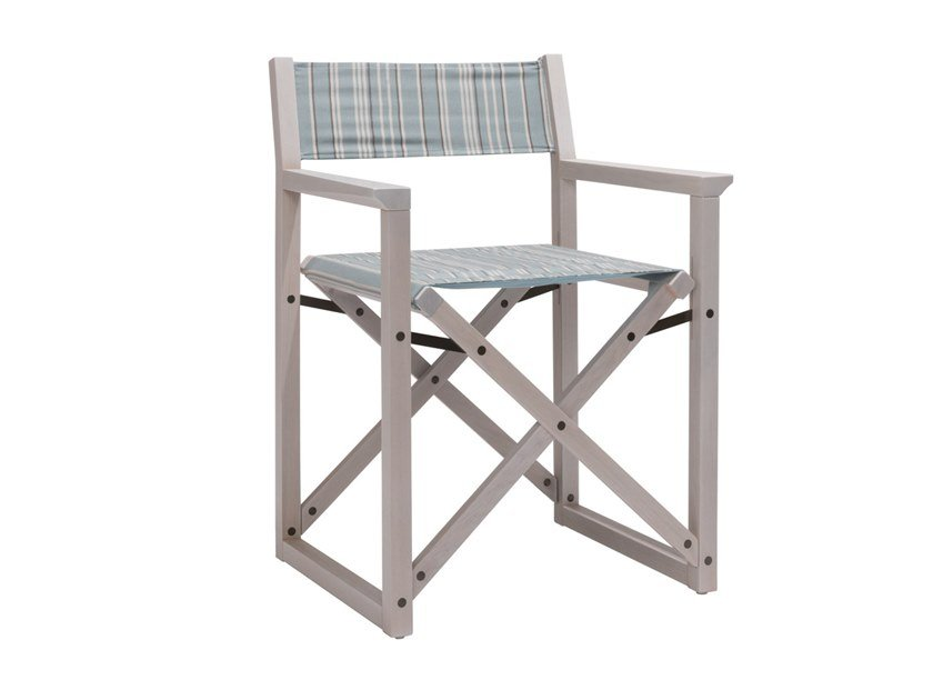 Open back beech garden chair DOLCEVITA REGISTA TSPO01 | Chair with armrests by New Life