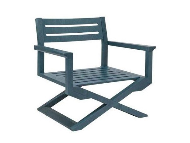 Garden multi-layer wood easy chair with armrests DOLCEVITA TSPL01 | Easy chair with armrests by New Life