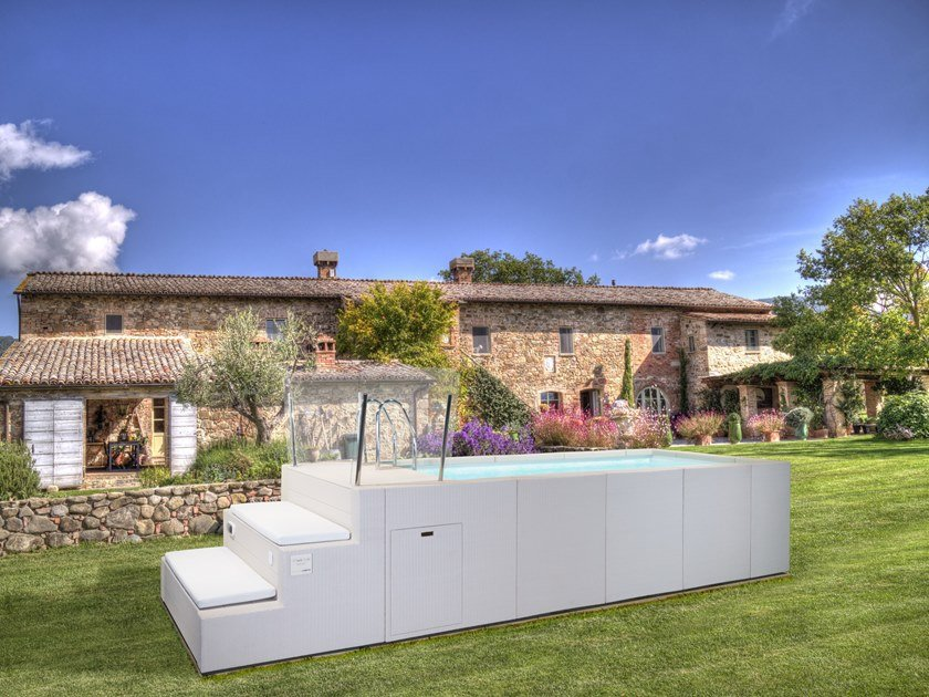 Above-Ground swimming pool DOLCEVITA YACHT by Piscine Laghetto