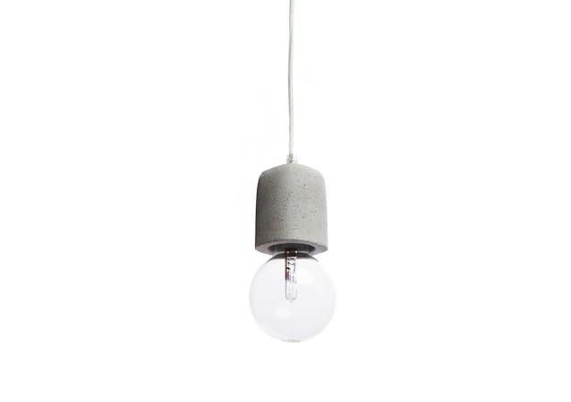 Concrete pendant lamp DOLIO Q by URBI et ORBI