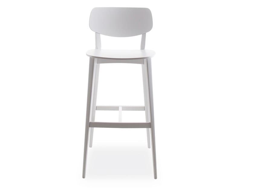 Beech stool DOLL 557 by Billiani