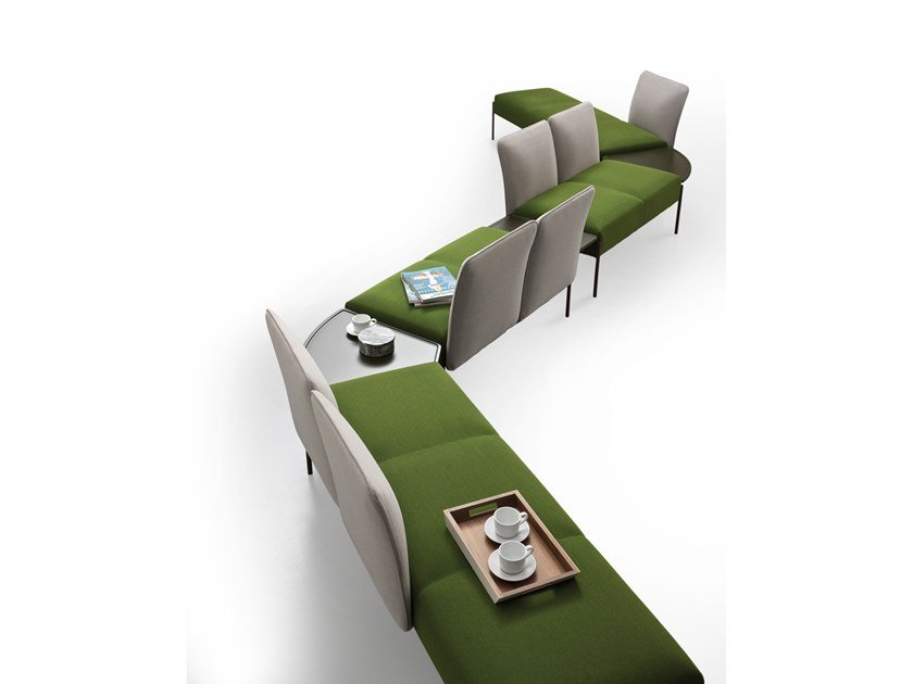 Fabric bench seating DOLLY | Bench seating by ESTEL GROUP