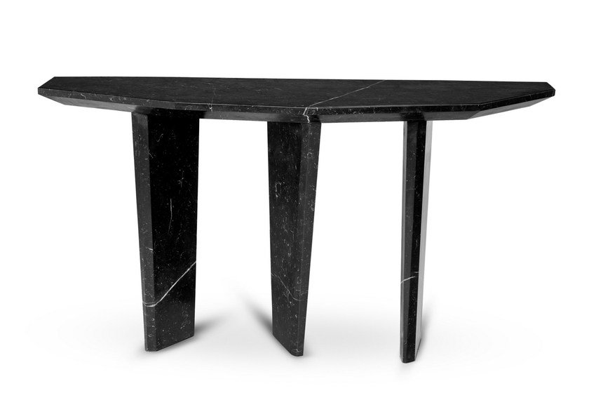 Consolle a mezzaluna in marmo DOLMEN by Ginger & Jagger