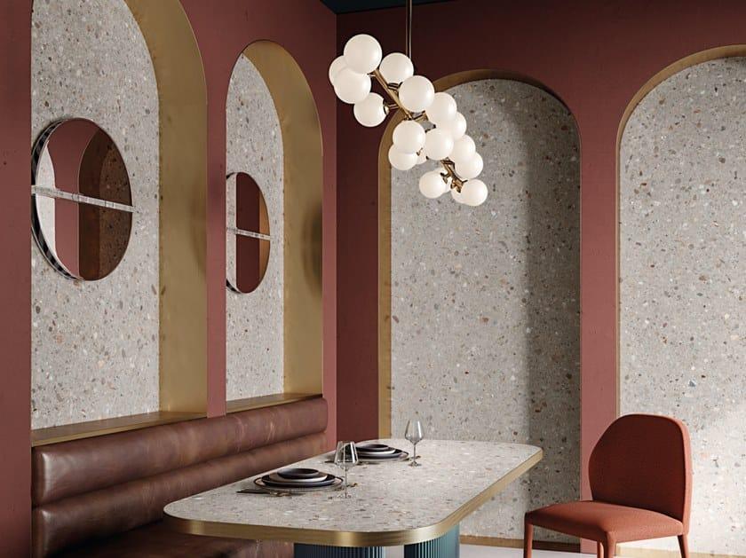 Pavimento/rivestimento in gres porcellanato effetto pietra DOLMIX GREY by CERAMICHE KEOPE