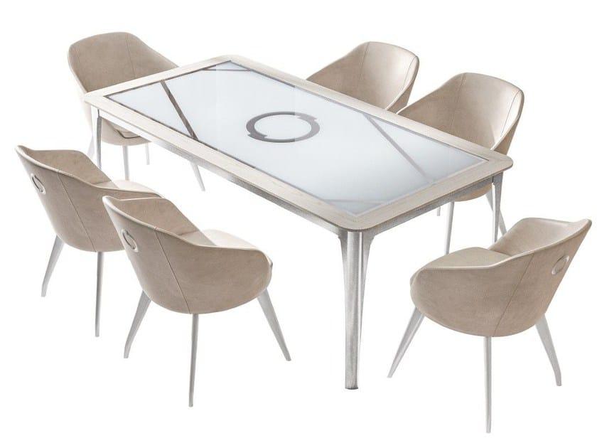 Tavolo da pranzo rettangolare DOLOMITE RHOMBUS | Tavolo rettangolare by Caroti