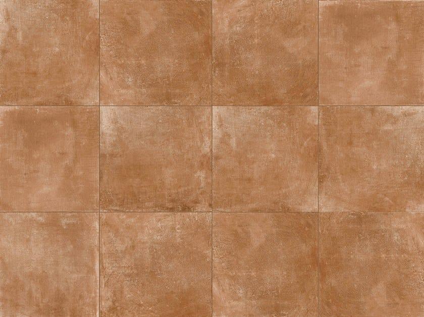Porcelain stoneware outdoor floor tiles with terracotta effect DOLOMITI COTTO by GRANULATI ZANDOBBIO