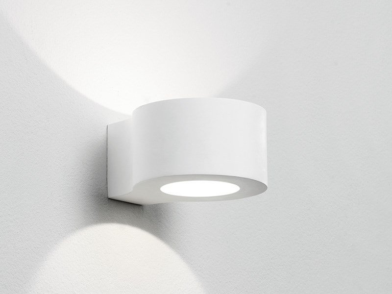 LED direct-indirect light plaster wall light DOLOPIA by Sforzin