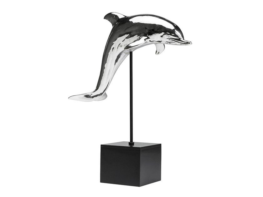 Resin decorative object DOLPHIN CHROME by KARE-DESIGN