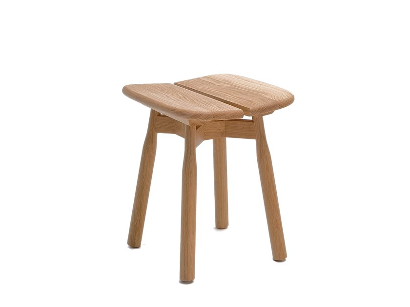 Low solid wood stool DOM | Low stool by COEDITION