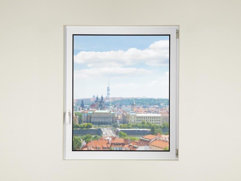 Finestra in alluminio e vetro con doppio vetro DOMAL TOP TB75 by DOMAL