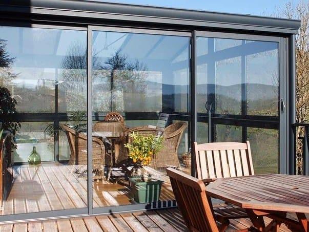 Veranda in alluminio e vetro DOMAL VERANDA by DOMAL