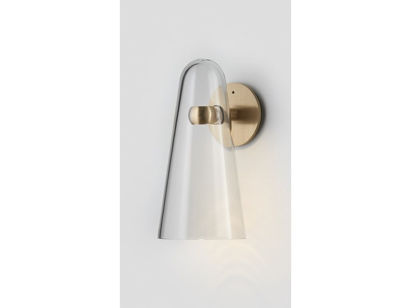 LED blown glass wall lamp DOMI   Wall light by Articolo Lighting