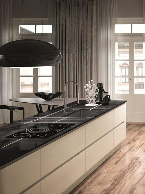 DOMINA   Kitchen with island By Aster Cucine S.p.A. design Lorenzo ...