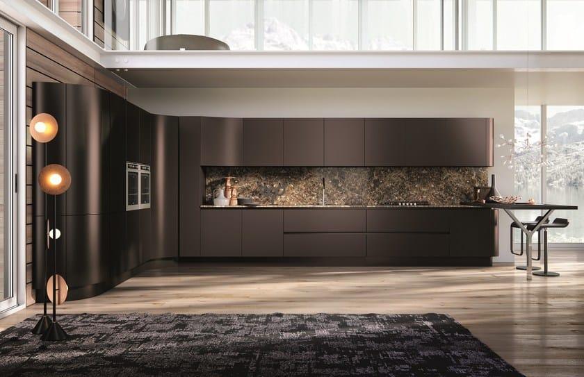 DOMINA | Linear kitchen By Aster Cucine S.p.A. design Lorenzo Granocchia