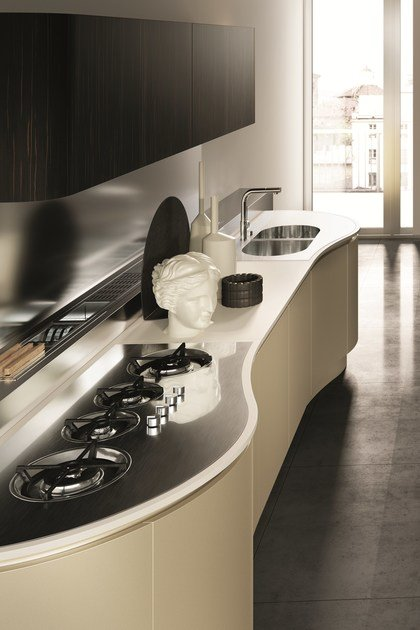 DOMINA | Linear kitchen By Aster Cucine S.p.A. design Lorenzo ...