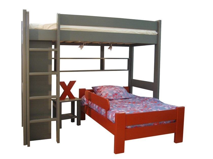 Loft wooden bed DOMINIQUE 172 | Loft bed by Mathy by Bols