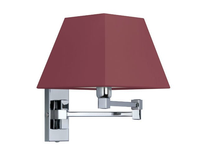 Canvas wall light with swing arm DOMINIQUE 18-30 by Quicklighting