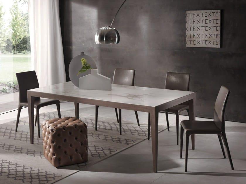 Rectangular table DOMINIQUE | Ceramic table by Pacini & Cappellini