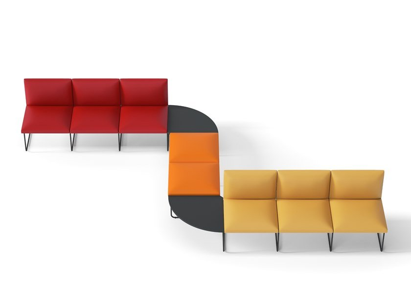 Leather bench seating DOMINO | Bench seating by Arte & D