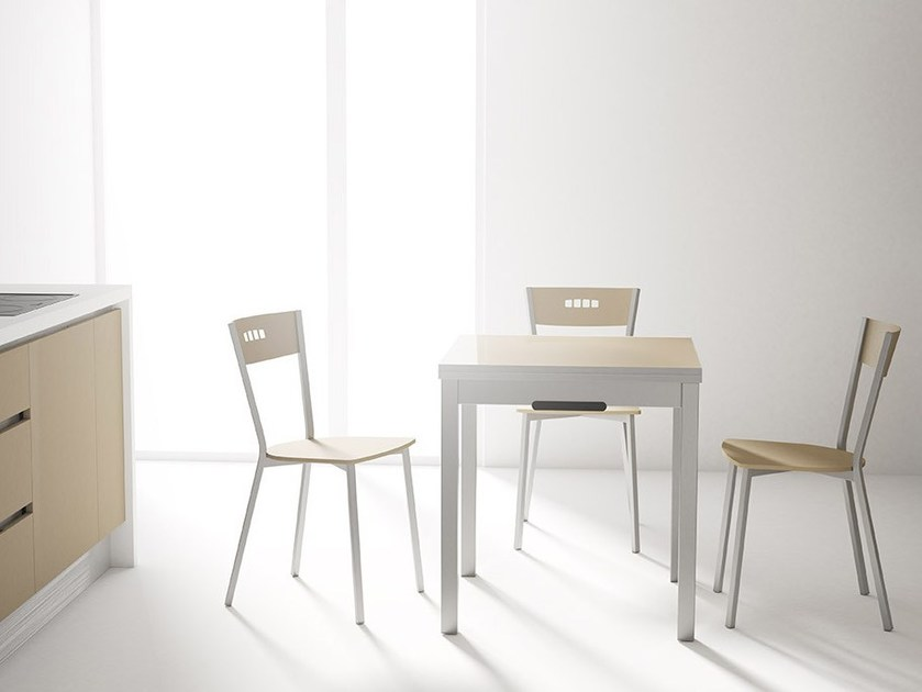 Extending kitchen table with drawers DOMINO by CANCIO