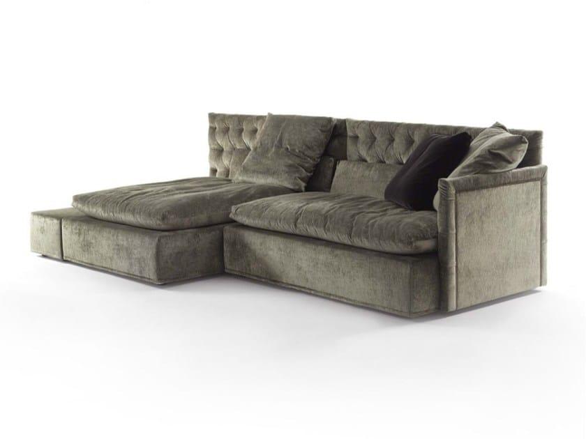 Tufted sectional fabric sofa DOMINO CAPITONNE' | Fabric sofa by Frigerio Salotti