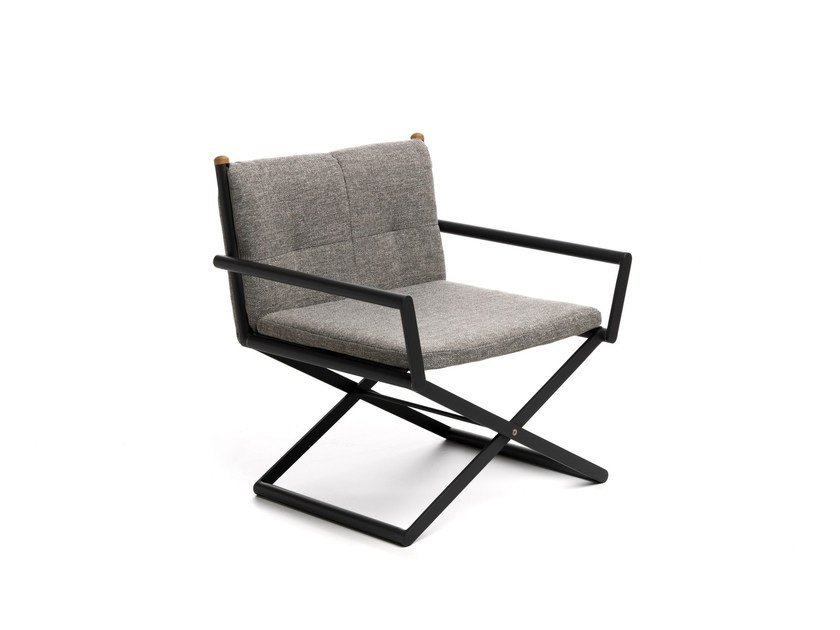 Fabric garden chair with armrests DOMINO | Chair by Talenti