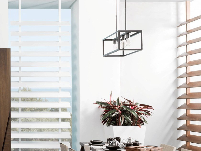 Direct light metal pendant lamp DOMINO by Gamadecor