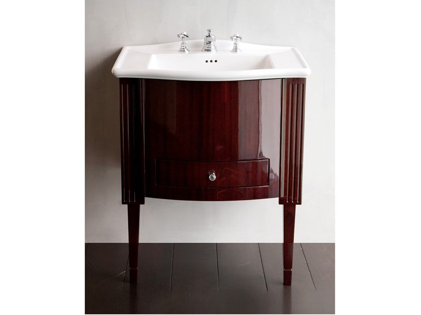 Lacquered vanity unit with drawers DOMINO MAHOGANY WESTMINSTER by Devon&Devon