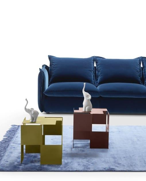 Tavolino basso in metallo DOMINO By MY home collection design Fabio Bortolani
