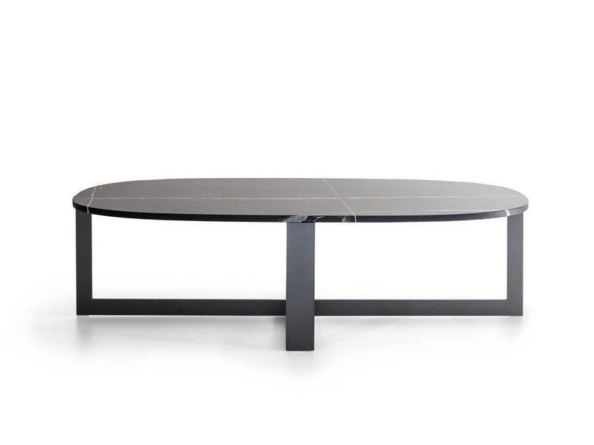 Round Stone Coffee Table Domino Next By Molteni C