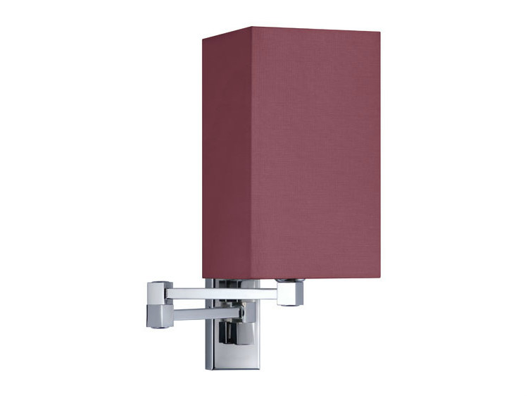Canvas wall light with swing arm DOMITILLA 12-25 by Quicklighting